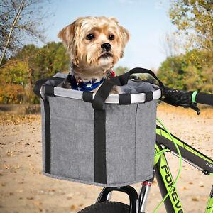 Bicycle Front Waterproof Foldable Bike Handlebar Basket Pet Dog Carrier Bag R9U4