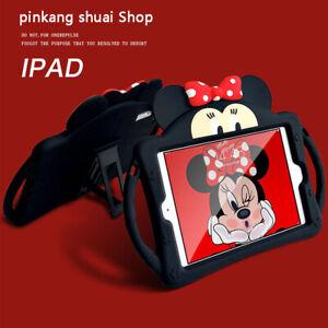 For Apple iPad 56 Minnie Mouse Disney Handle Taipa Silica Gel Bracket TabletCase