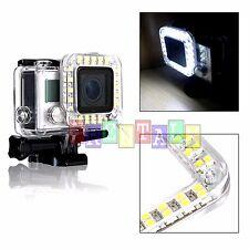 External USB Lens Ring LED Flash Light Shooting For GoPro Hero 2 3 3+ 4 Camera