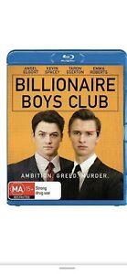 Billionaire Boys Club (Blu-ray, 2019 Ansel Elgort, Taron Egerton) L NEW