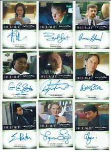 X-Files UFOs & Aliens Paranormal Script Autograph Card Selection Upper Deck 2019