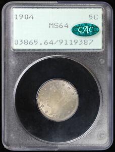 1904 5c Liberty V Nickel PCGS MS 64 CAC   Rattler