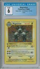 Magneton Holo 1st Edition Shadowless Base Set PSA CGC 6, #9/102