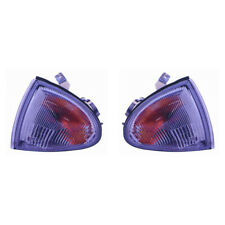 Fits 1993-1997 Honda Civic DEL SOL Front Signal Light Pair HO2530124+HO2531124