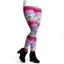 Pealu - Aztèque Multicolore Imprimé Legging en Taille Unique Femmes Confortable