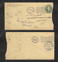 1899 MECHANICS NATIONAL BANK BURLINGTON NJ US STAMPED ENVELOPE ADVERTISING COVER