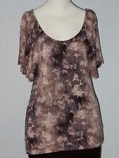 GAP Size M Brown Camouflage Dolman Sleeve Blouse
