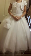 Communion Dress and Accessories, Veil, Shoes, Gloves, Bag
