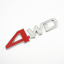 Metal 3D 4WD Logo Badge Emblem Sticker For Jeep 4x4 Truck Off Road Pickup RV SUV