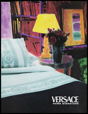 Versace home furnishings print ad 1998 designer bedding in a stylized room