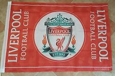 Liverpool Official Club Crest Flag - Liverbird's imprinted on flag