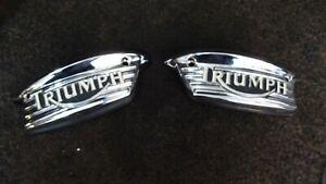 Triumph Bonneville Speedtwin 2016 tank badges LHS & RHS   10-21