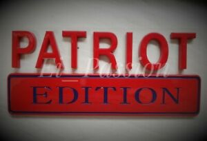 PATRIOT EDITION Red & Blue Fit All Cars Trucks Logo EMBLEM Birthday Gift Idea