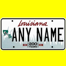 Bicycle license plate - Louisiana design, new custom personalized, any name