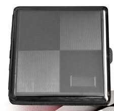 METAL CIGARETTE CASE - - silver metal engraved design cigerette holder gift