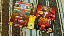 BOX ART ONLY Road Rash 2 II Original Sega Genesis Case Sleeve