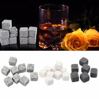 6pcs Whiskey Stones Ice Cube Whisky Alcohol Cooler Wedding Christmas Bar GifZJP
