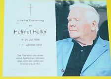 ORIGINAL STERBEBILD HELMUT HALLER / BOLOGNA , JUVENTUS TURIN , FC AUGSBURG , DFB