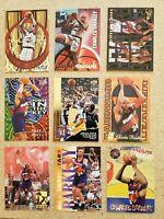 Charles Barkley NBA 9 Card Lot - Premium Inserts!!! Rockets / Suns