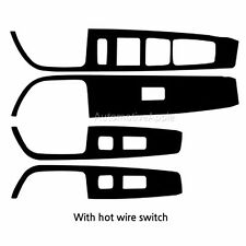 Real Carbon Window Switch Decal Sticker For Hyundai Sonata LF