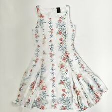 Disney Alice Through The Looking Glass Colleen Atwood Lined Dress S White Floral