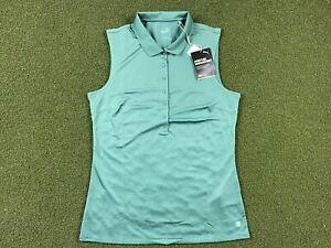 Women's PUMA Rotation Sleeveless Golf Polo Blue Spruce SZ S ( 595823 16 )