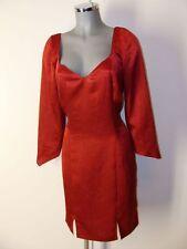 Kleid in Metallic Rot Gr 42 44 geschätzt mit raffiniertem Rückenteil
