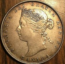 1870 CANADA VICTORIA SILVER 50 CENTS COIN - Excellent example!