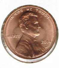 2014-D Brilliant Uncirculated Lincoln Shield One Cent Coin!
