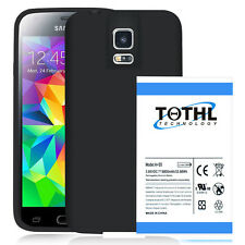 TQTHL A 8800mah Extended Battery For Samsung Galaxy S5 + black TPU Case