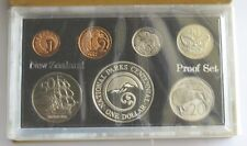 New Zealand 1987 Proof Set Seven Coin Set with National Parks Silver $1