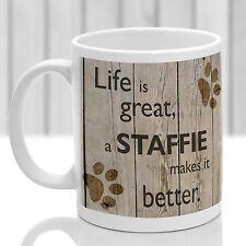 Staffordshire Bull terrier mug, Staffie dog gift, ideal present for dog lover