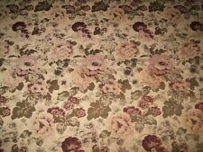 Floral Upholstery Fabric Material Antiques by the metre Velvet feel (5)