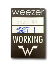 WEEZER 2002 AUTHENTIC VINYL BACKSTAGE WORKING CONCERT PASS