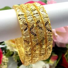 Indian Asian Size:2.10 Bridal Jewellery Ethnic Wear 22ct Gold Plated Bangles