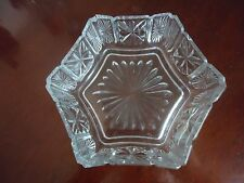 """Vintage """"Avon"""" Press Glass Bowl Candy Dish Decorative Collectible- 5.25 inch."""