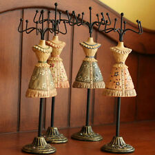 Victorian Dress Model Mannequin Necklace Jewelry Ring Display Rack Stand Holder