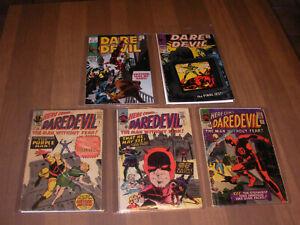 1964 DareDevil # 4 , 9 , 10 , 46 , 47   Marvel Comics Silver Age