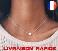 Collier coeur bijoux femme fille idée cadeau mode tour de cou chaine collares