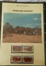 Uganda, 1983 MNH WWF Elephant stamps MNH, FDC and Maxicard set