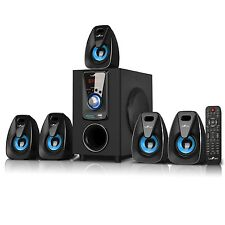 5.1 CHANNEL BeFree SOUND BFS-400 SURROUND SOUND BLUETOOTH SPEAKER SYSTEM - BLUE