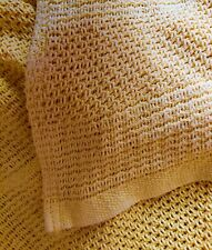 Vintage Woven Pure Cotton Sunflower Yellow Throw Cover Spread 54x64 in