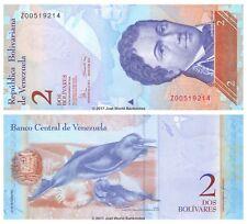 VENEZUELA 2 BOLIVARES 2008 sostituzione P-88cr BANCONOTE UNC