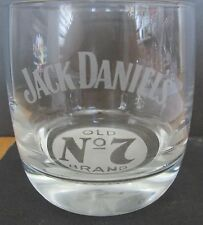 JACK DANIEL'S  ADVERTISING HIGH BALL GLASS    OLD #7 ETCHED WHITE