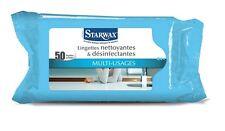 LOT 50 LINGETTE NETTOYANT DESINFECTANTE CUISINE SALLE DE BAINS WC STARWAX 1353