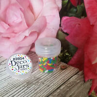 50  Vial Clear Cap Pot JAR Bottle 1/4oz Cache Glitter Powder DecoJars #2804 NEW