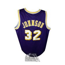Magic Johnson Autographed Custom Basketball Jersey - JSA COA