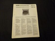 Original Service Manual SABA CSP 355