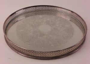 Vintage Silver Plate Platter with Glass Liner Made in England FREE UK P&P