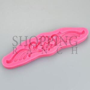 Floral Flower and Swirls Silicone Mould Cake Wedding Topper Fondant Tool Lace